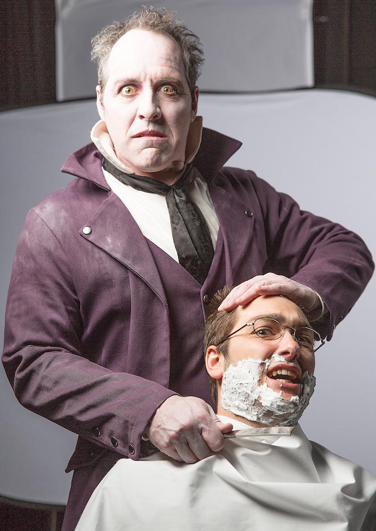 Paul Truckey as the barber Sweeney Todd