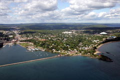 Marquette and NMU from the air