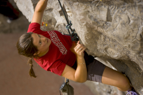 Climing wall at the PEIF