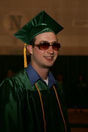 Cool student in shades at commencement