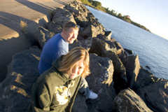 Studens by Lake Superior