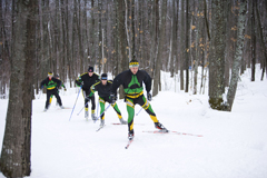 NMU Cross country team practicing
