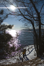 A view from Presque Isle Park