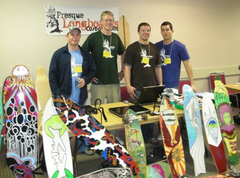 Business Plan (First Prize, $4,000) and Trade Fair Display Presentation ($500) - Presque Longboards - Bryan Johnson, Darren Young, Brian Emigh (team leader) and Ricky Golden