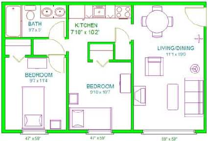 Norwood/Center Floor Plans