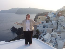 Carolyn Zdroik in Santorini, Greece