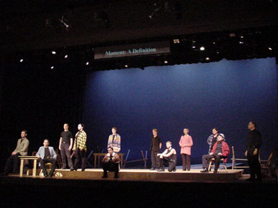 "NMU students performing in play, ""The Laramie Project"""