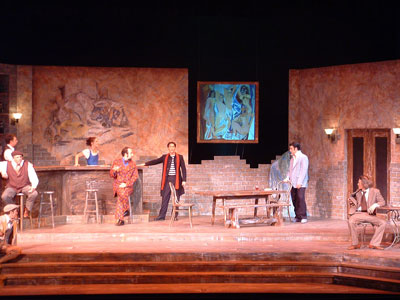 "NMU students performing in play, ""Picasso at the Lapin Agile"""