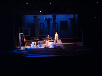 "NMU students performing in play, ""A Rembrandt's Eyes"""