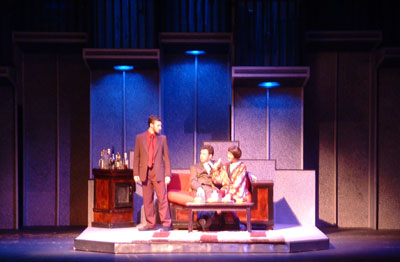 "NMU students performing in play, ""Company"""