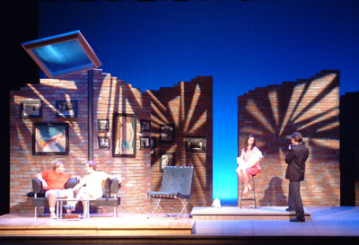 "NMU Students performing in play ""All My Sons"""