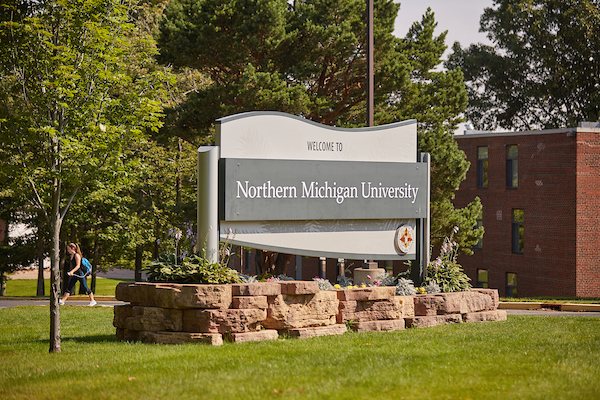 Northern Michigan University Campus Sign