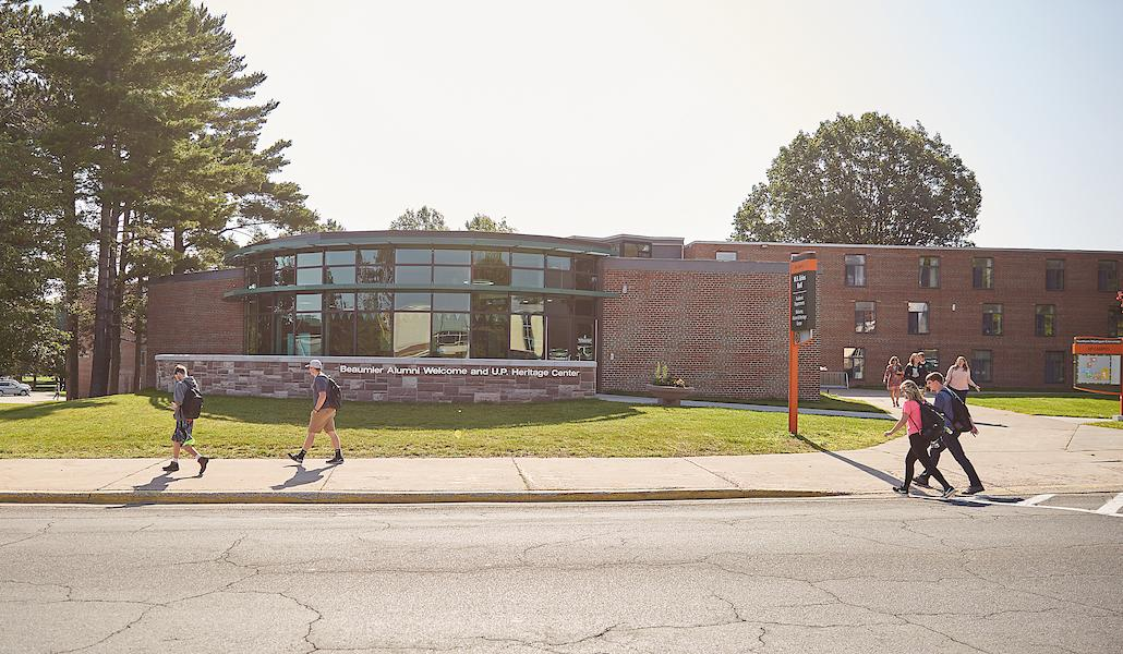 Gries Hall the first day of class 2018
