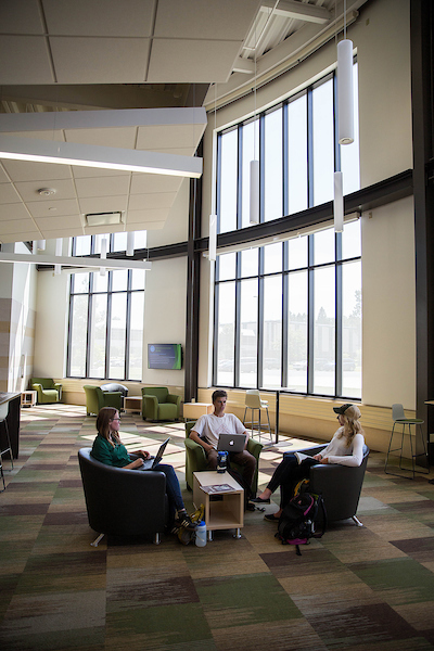Students in Jamrich study space