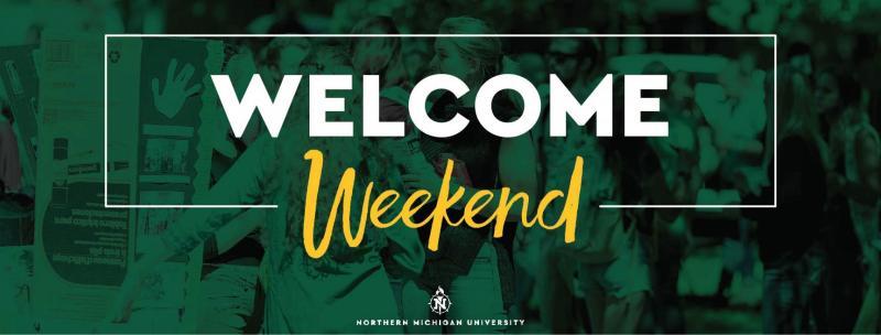 """Welcome Weekend"" Cover photo graphic"