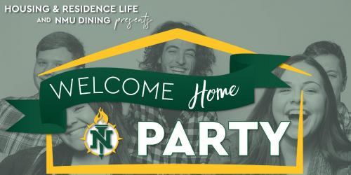 Welcome home party Twitter graphic