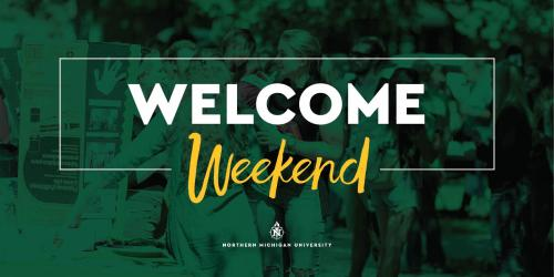 "Twitter ""Welcome Weekend"" post graphic"
