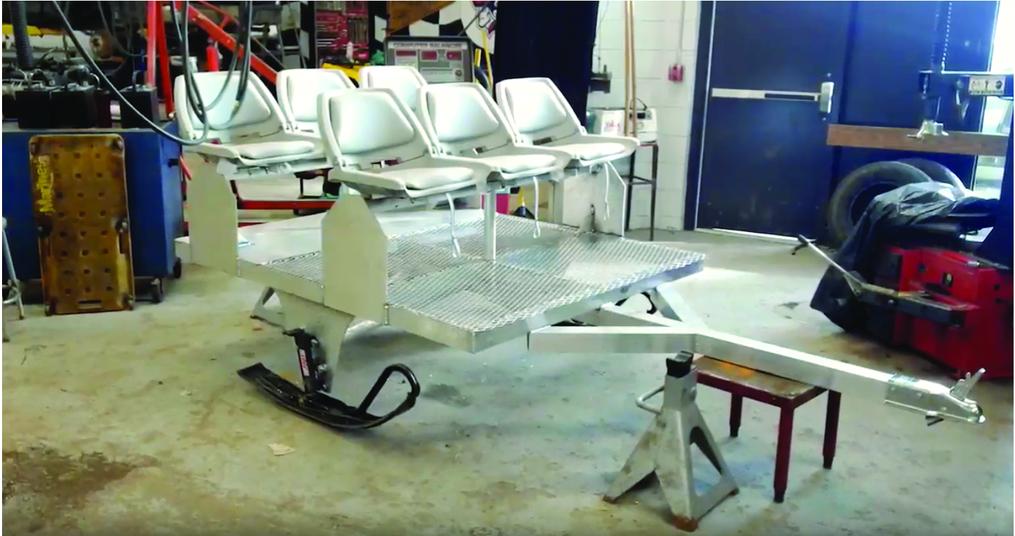 "Westwood High welding students  design and build a ""people mover"""