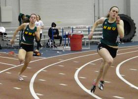 NMU sprinters at the GLIAC Championship.