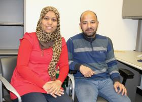 Abbady with her husband, Mohammed Said.