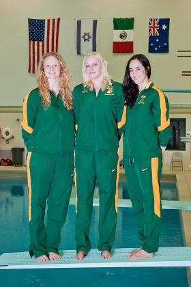 NMU's three seniors.