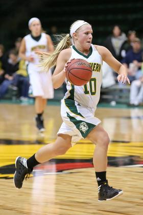 Sophomore Lauren Gruber.