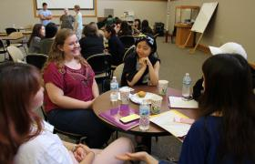 Small-group discussions with NMU, TRIO and Upward Bound students