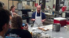 Martin Reinhardt leads a DDP cooking demonstration