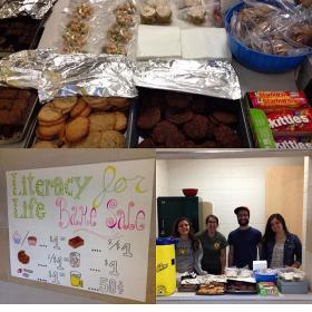 A bake sale was one fundraiser for the book effort