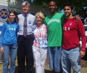 Rep. Bart and Laurie Stupak with USOEC Olympians