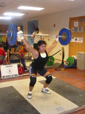 USOEC weightlifter Alex Argueta