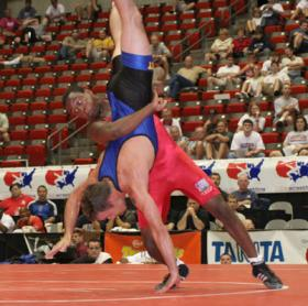 Lester (red) won gold at the Pan Ams July 24