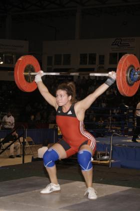 Ashley Suggs attempts a snatch lift