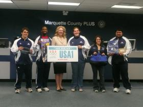 USOEC athletes with Terry Lynn Land