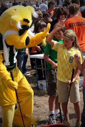 A scene from 2008 Fall Sports Kickoff