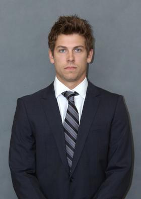 Senior forward Tyler Gron.