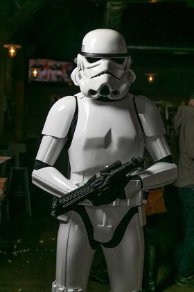 Ewers in his Stormtrooper costume (courtesy of LeClair Photo)