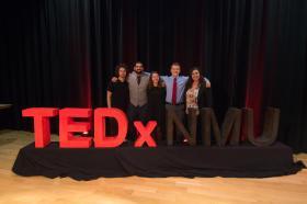 TEDxNMU stock photo