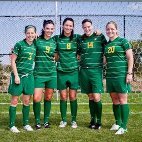NMU's five seniors.