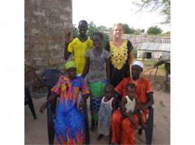 Kaitlin McDonald with a group in Senegal.
