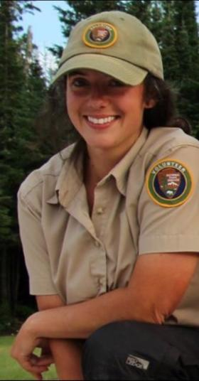 Hartman during her summer internship at Isle Royale National Park
