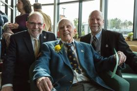 NMU President Fritz Erickson, John Beaumier and Mark Pynnonen