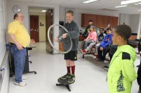 NMU Physics Chair Dave Donovan leads a