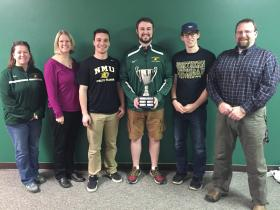 From left:  Faculty members Julie Rochester and Maggy Moore (Health and Human Performance), students Tyler Hillstead, Duane Bair and Justin Young, and faculty member Chris Kirk