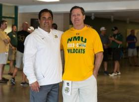 Coach Ostrowsky with Nelsen