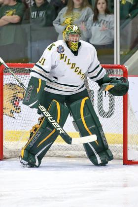 Junior goaltender Jared Coreau.