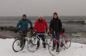 Biking trio