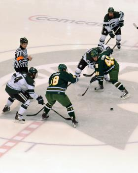 NMU and MSU tied 5-5 on Friday.