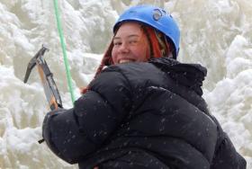 Ice climbing the