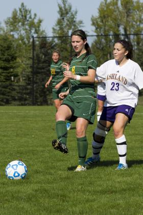 KC McCary controls the ball against Ashland.